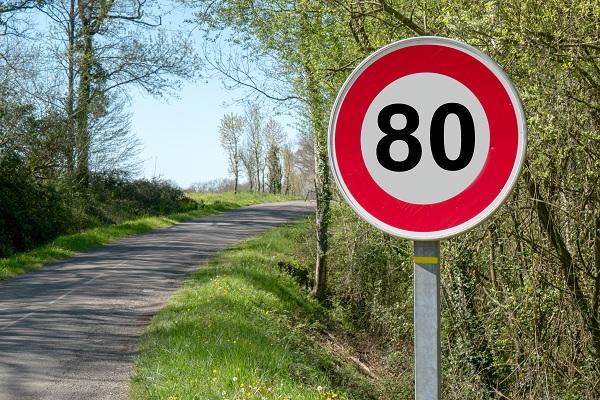 Les départementales seront limitées à 80KM/H ou 90KM/H