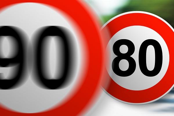 Panneaux 80 90 km/h