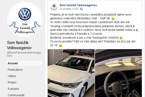 Volkswagen Golf 8 : une première image volée de la version définitive avant l'annonce officielle