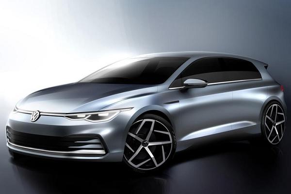 Volkswagen Golf 8 : des dessins pour découvrir son design et son intérieur