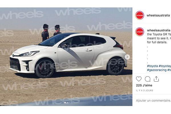 La Toyota Yaris GR-4 (GR Yaris) aperçue en essais sans aucun camouflage