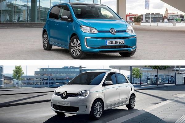 Renault Twingo Z.E, Volkswagen e-Up 2.0: le comparatif complet