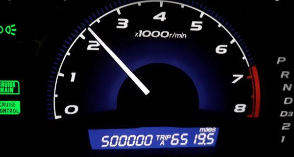 Une Honda Civic avec 800 000 km au compteur