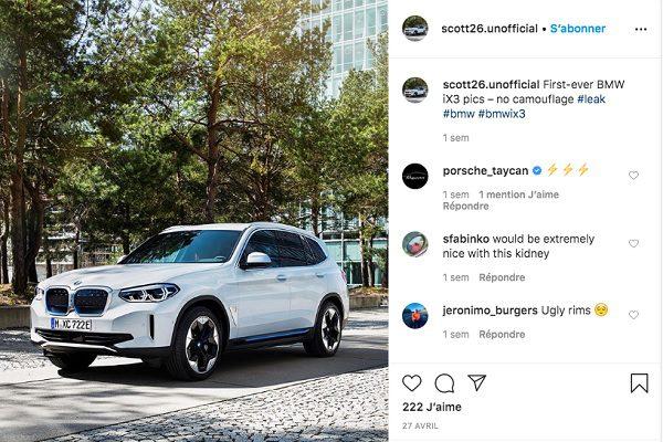 Le SUV électrique BMW iX3 devrait arriver en fin d'année 2020