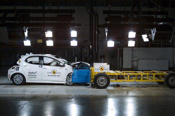 5 étoiles aux tests Euro NCAP pour la Toyota Yaris