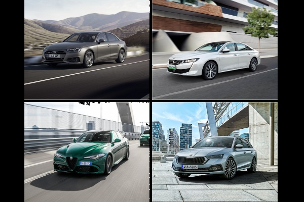 Le match des routières: A4, Giulia, Octavia ou 508, laquelle choisir?