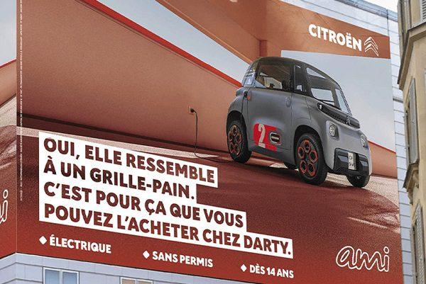 Avec son AMI, Citroën ne manque pas d'humour !